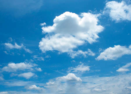 blue and white: The vast blue sky and clouds sky