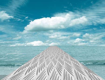 sheet steel: Sheet steel, sea, sky