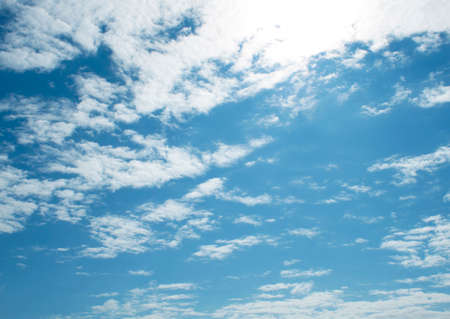 brightest: The vast blue sky and clouds sky,sun..