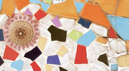 fragments: Ceramic wall tile fragments Stock Photo