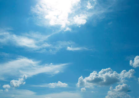 The vast blue sky and clouds sky,sun,