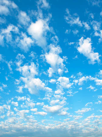tranquil scene: The vast blue sky and clouds sky