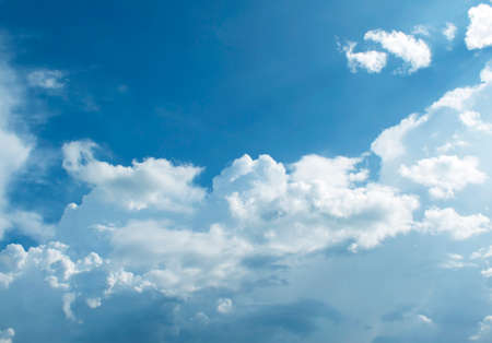 clouds skies: The vast blue sky and clouds sky