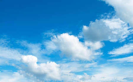 The vast blue sky and clouds sky
