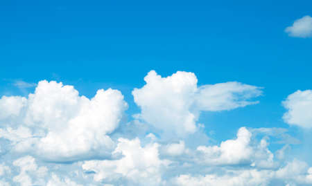 The vast blue sky and clouds Stock Photo