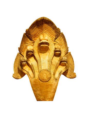Stucco Snake Head