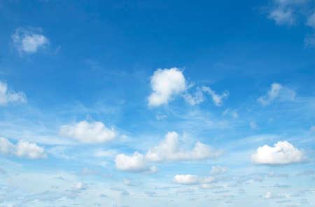 skylight: Fantastic soft white clouds against blue sky