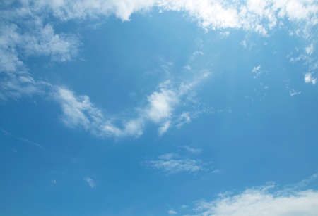 stratosphere: The vast blue sky and clouds sky