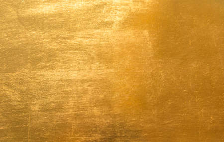 Surface gold metal background Stock Photo