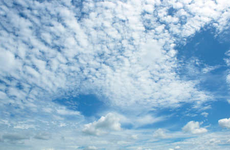 The vast blue sky and clouds sky 写真素材