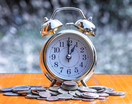 Time with money background