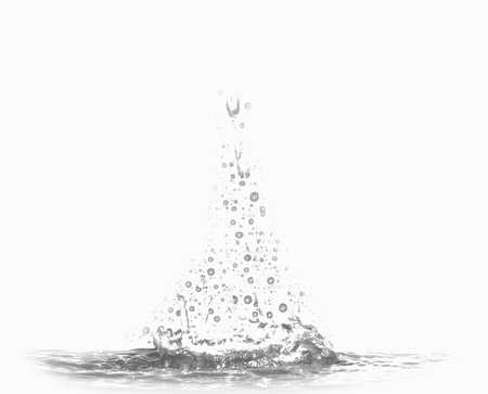 Water splash on white background Foto de archivo