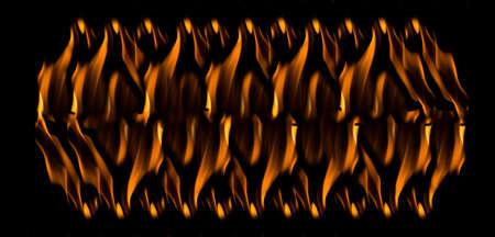Fire flames on black background 免版税图像 - 106535290