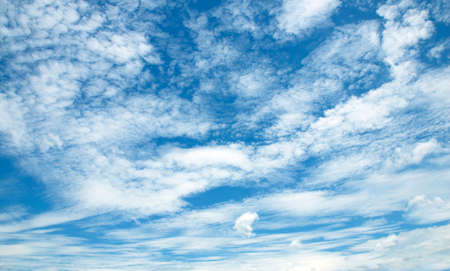 Air clouds in the blue sky background 스톡 콘텐츠