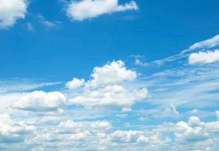Air clouds in the blue sky background