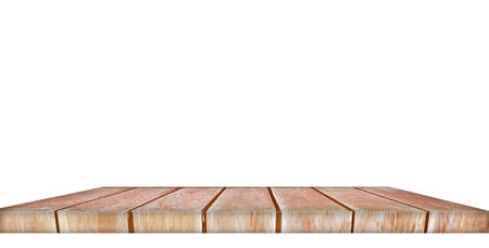 Wood countertops on a white background for product display