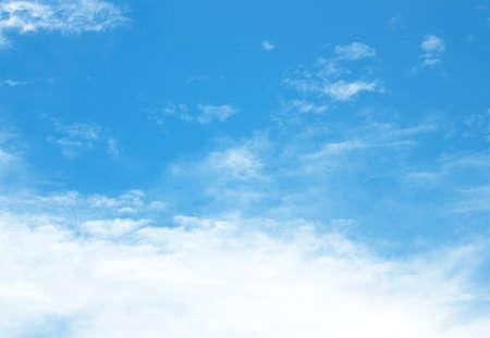 Le vaste ciel et les beaux nuages blancs