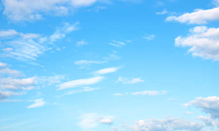 blue sky white clouds background beautiful Stockfoto