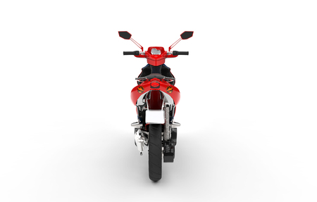 maneuverability: Red Scooter Back View