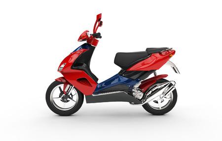 赤いスクーター