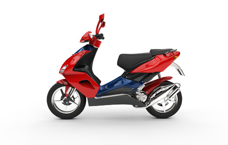 Scooter rouge  Banque d'images - 44859205