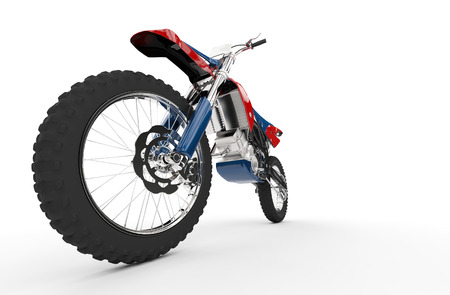 super cross: Dirt Bike rojo rueda delantera Foto de archivo