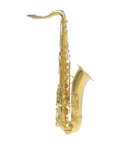 soprano saxophone: Vista lateral Saxofón