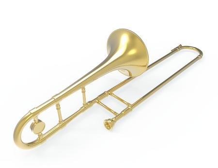 jazzy: Trombone Stock Photo