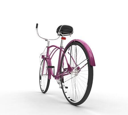 rear: Pink Bicycle Rear View