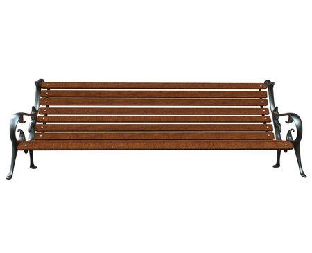 bench park: Banco del parque frente aislado
