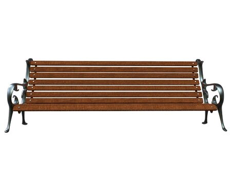 park bench: Park Bench Front Isolated