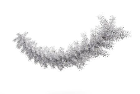 a twig: Silver Xmas Twig