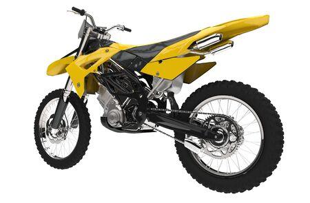 dirt bike: Yellow Dirt Bike - Back View Stock Photo