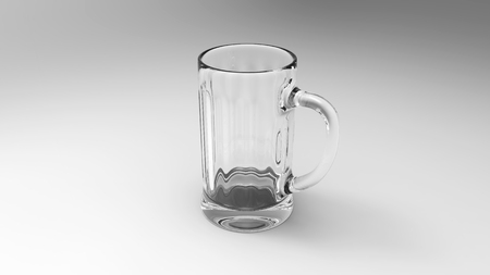mug of ale: Empty Glass Of Beer Stock Photo