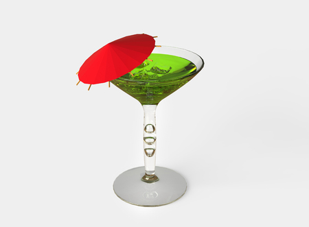 wit: Green Cocktail Wit Red Umbrella