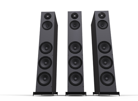 party system: Tall Speakers Stock Photo