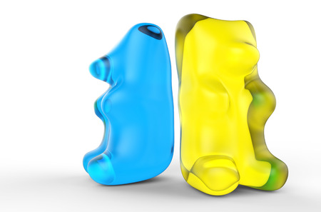 Blue And Yellow Gummy Bears