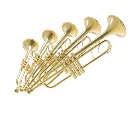 trumpets: Trumpets Stock Photo
