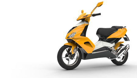 maneuverability: Yellow Scooter