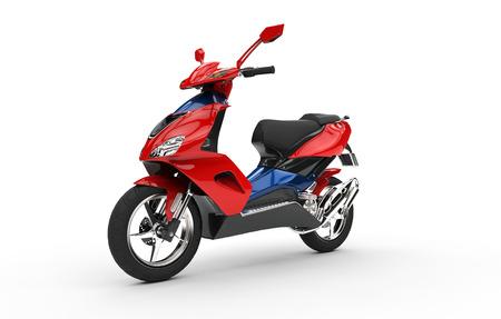 赤いスクーター 写真素材 - 44869267