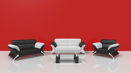 contemporary living room: Contemporary Living Room Red