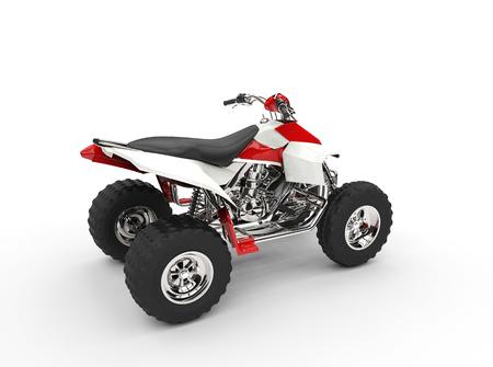 quad: Red Quad Rear View