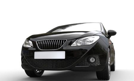 モダンな黒のメタリック車