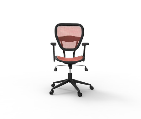 Red Office Chair Front View