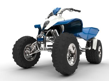 quad: Blue Quad Stock Photo
