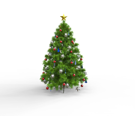 Christmas Tree Bright Green Stock Photo
