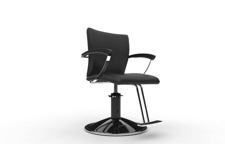 Barber Chair Stock Photo