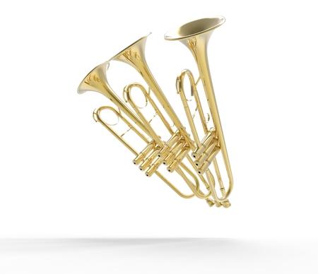 trompeta: Tres Trompetas en pose