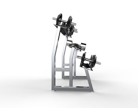 barbel: Weights Stand Side View