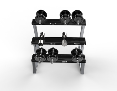 barbel: Weights Stand Top View